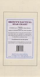 Brown´s Nautical Star Chart