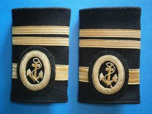 Galones de Primer Oficial de Puente sin Título de Capitán. Manguitos Blandos (Marina Mercante)