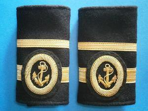 Galones de Segundo Oficial de Puente sin Título de Capitán. Manguitos Blandos (Marina Mercante)