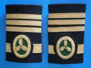 Galones de Primer Oficial de Máquinas con Mando de Jefe. Manguitos Blandos (Marina Mercante)