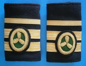 Galones de Segundo Oficial de Máquinas con Título de Jefe. Manguitos Blandos (Marina Mercante)