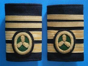 Galones de Primer Oficial de Máquinas con título de Jefe. Manguitos Blandos (Marina Mercante)