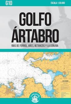 Golfo Ártabro. Rías de Ferrol, Ares, Betanzos y La Coruña. Carta Náutica Cartamar G10