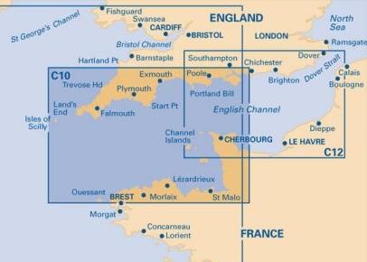 Western English Channel. Carta Náutica Imray C10