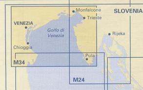 Golfo di Venezia. Carta Náutica M34