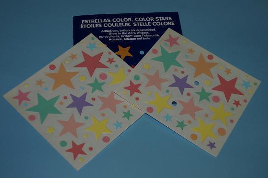 Adhesivos estrellas de color