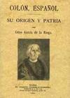 Colón, español. Su origen y patria