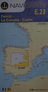 Ferrol - La Coruña - Caión. Carta Náutica Navicarte E23
