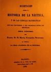 Disertación sobre la Historia de la Náutica y de las Ciencias Matemáticas